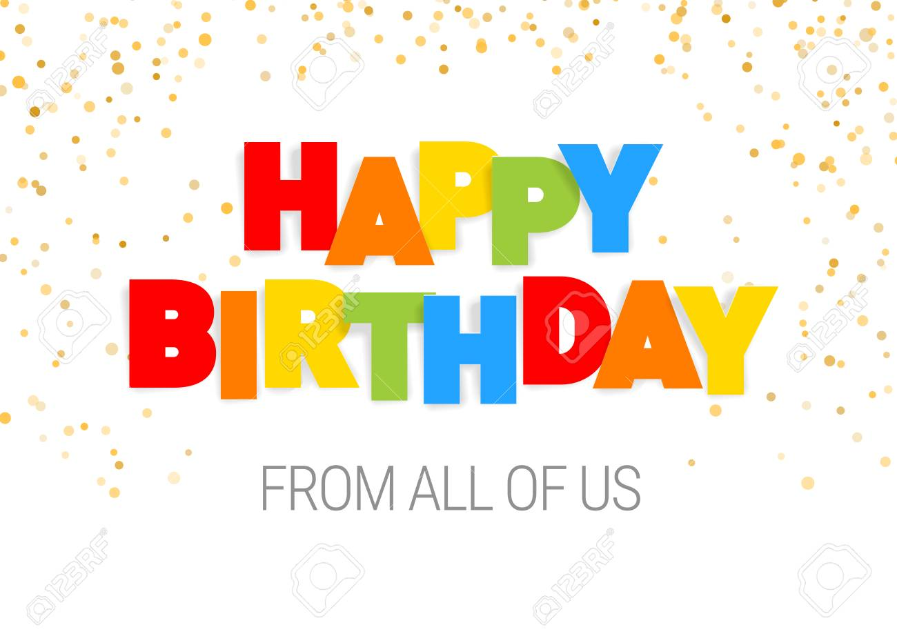 image regarding Free Printable Cut Out Letters for Posters identify Pleased Birthday inscription inside multicolored letters reduce out of..