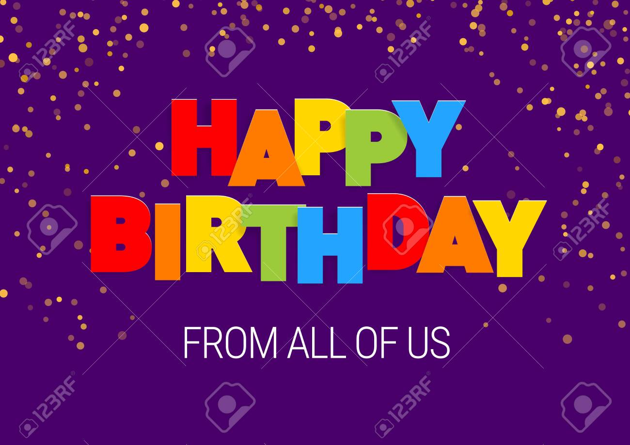 image about Free Printable Cut Out Letters for Posters called Joyful Birthday inscription inside of multicolored letters slash out of..