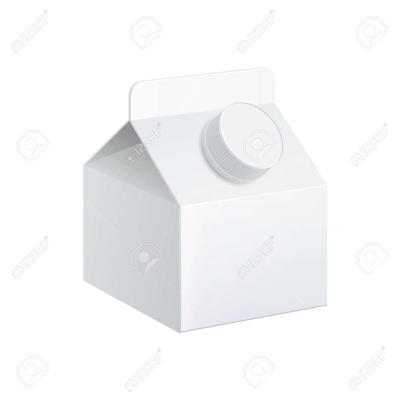 Realistic carton of milk. - 156326670