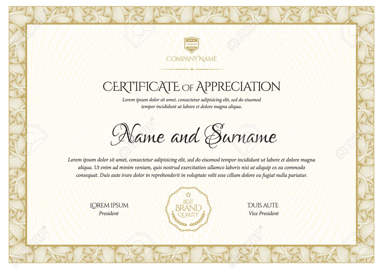 Certificate template. Diploma of modern design or gift certificate. - 169406995