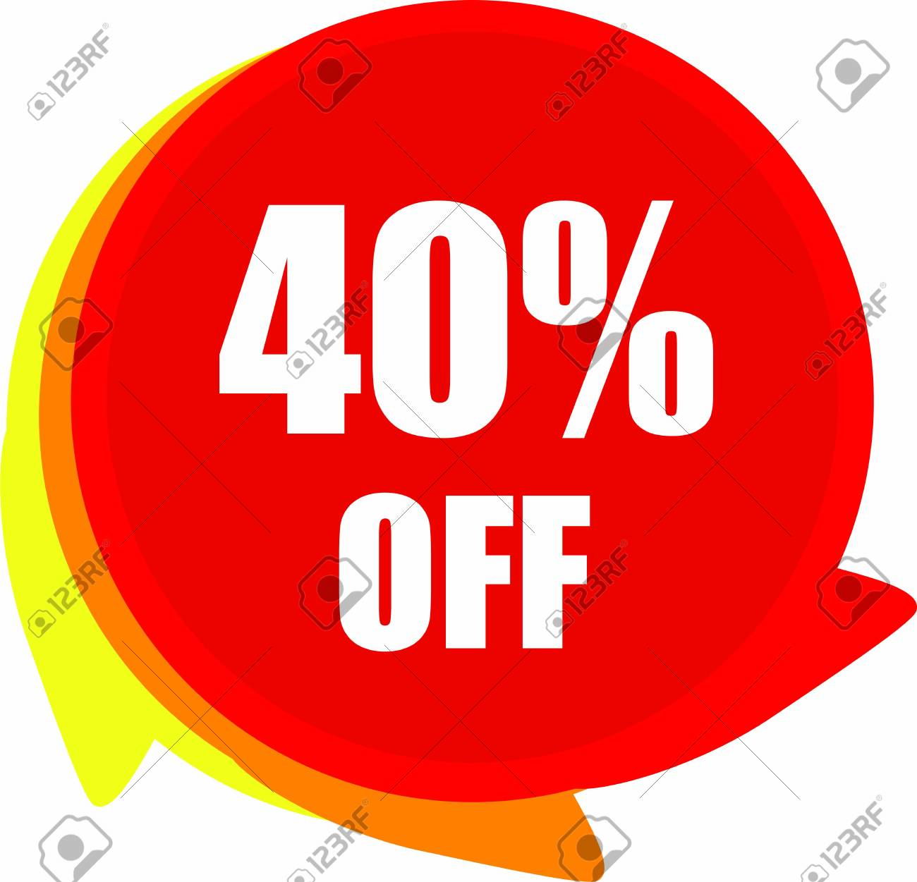 40 Percent Off Discount offer price label Graphics - 149099149