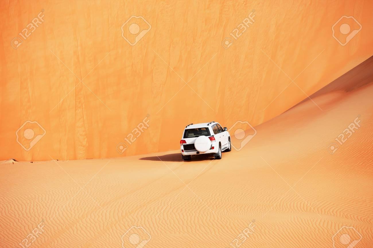 4x4 dune bashing is a popular sport of the Arabian desert Stock Photo - 17176144