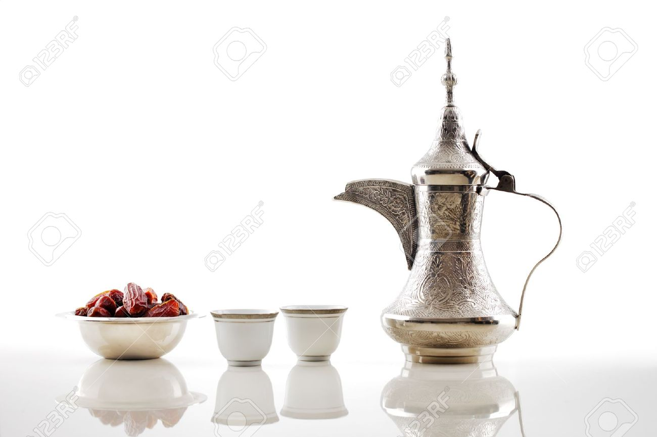 A dallah is a metal pot with a long spout Stock Photo - 21649375