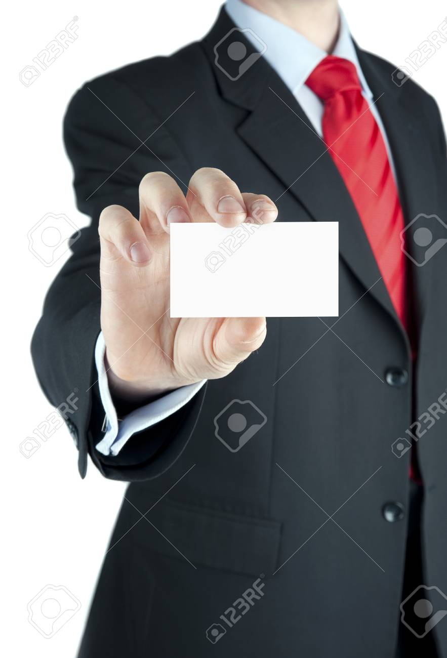 A businessman offering business card Stock Photo - 10435911