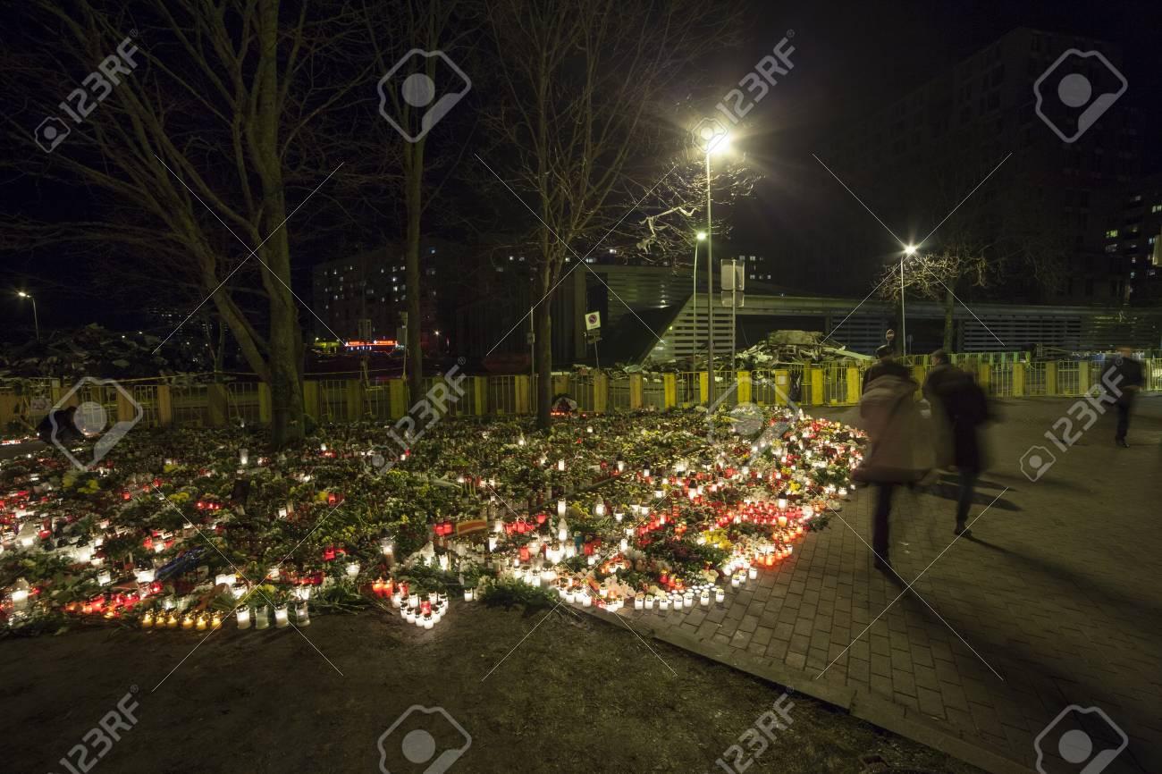 Riga, Latvia - 25 November 2013 Third day of National Mourning