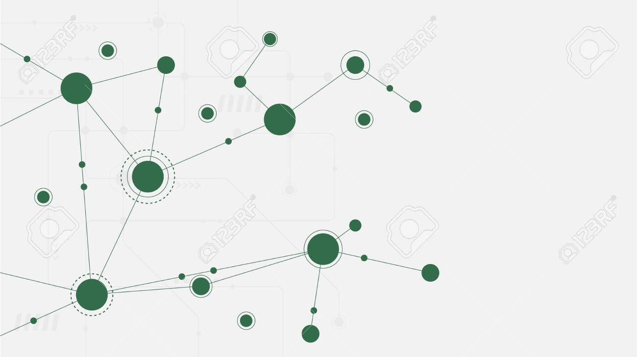 Abstract geometric connect lines and dots.Simple technology graphic background.Illustration Vector design Network and Connection concept. - 132096015