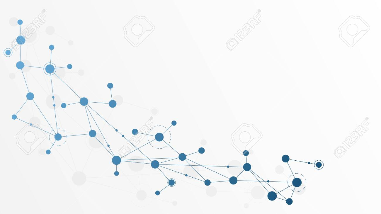 Abstract geometric connect lines and dots.Simple technology graphic background.Illustration Vector design Network and Connection concept. - 132096481