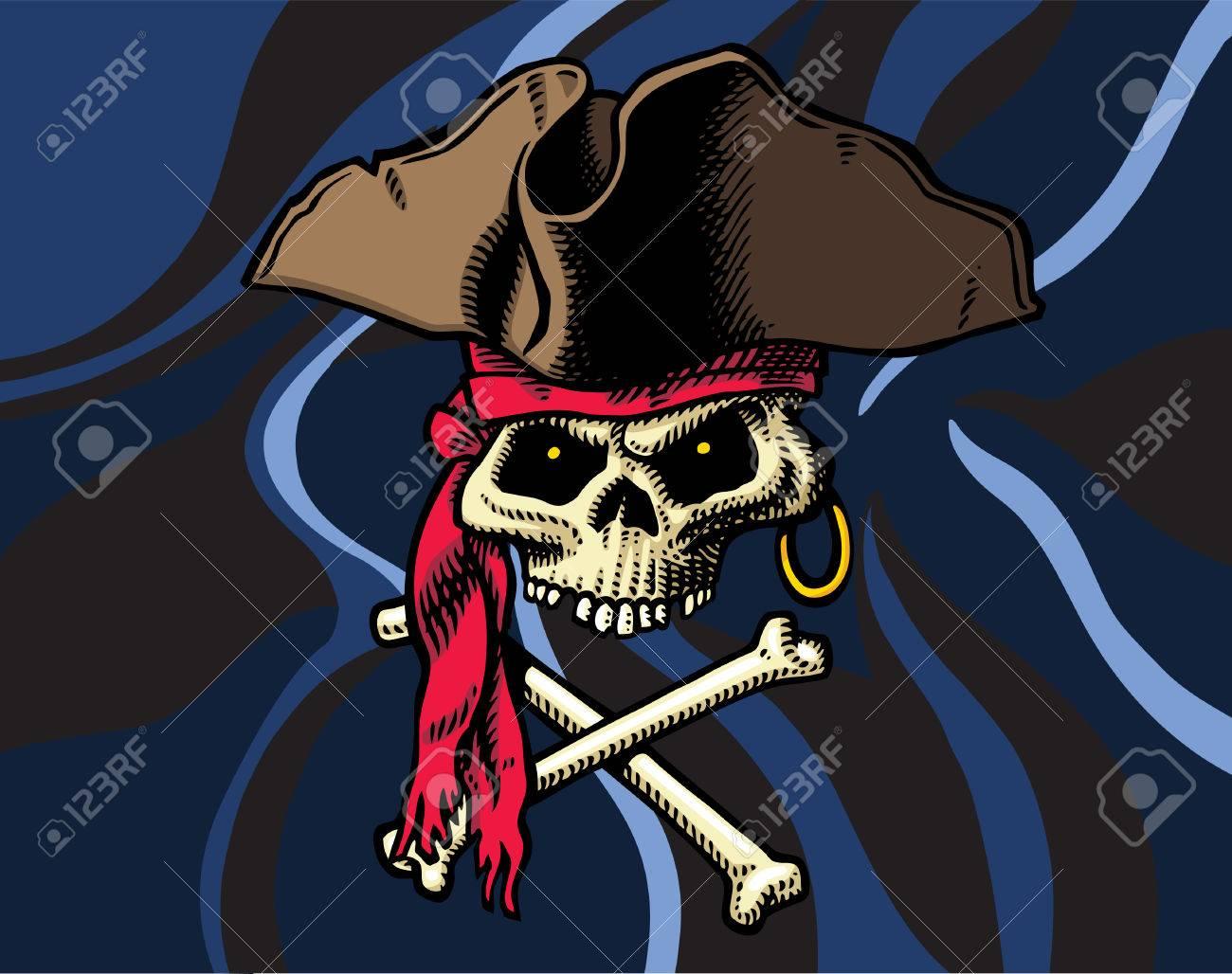 Skull & Crossbones flag Stock Vector - 8777598
