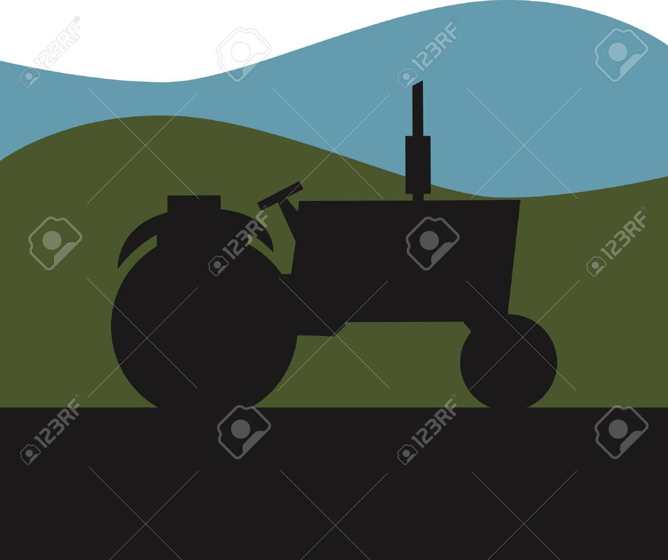 Tractor Icon Stock Vector - 8885240