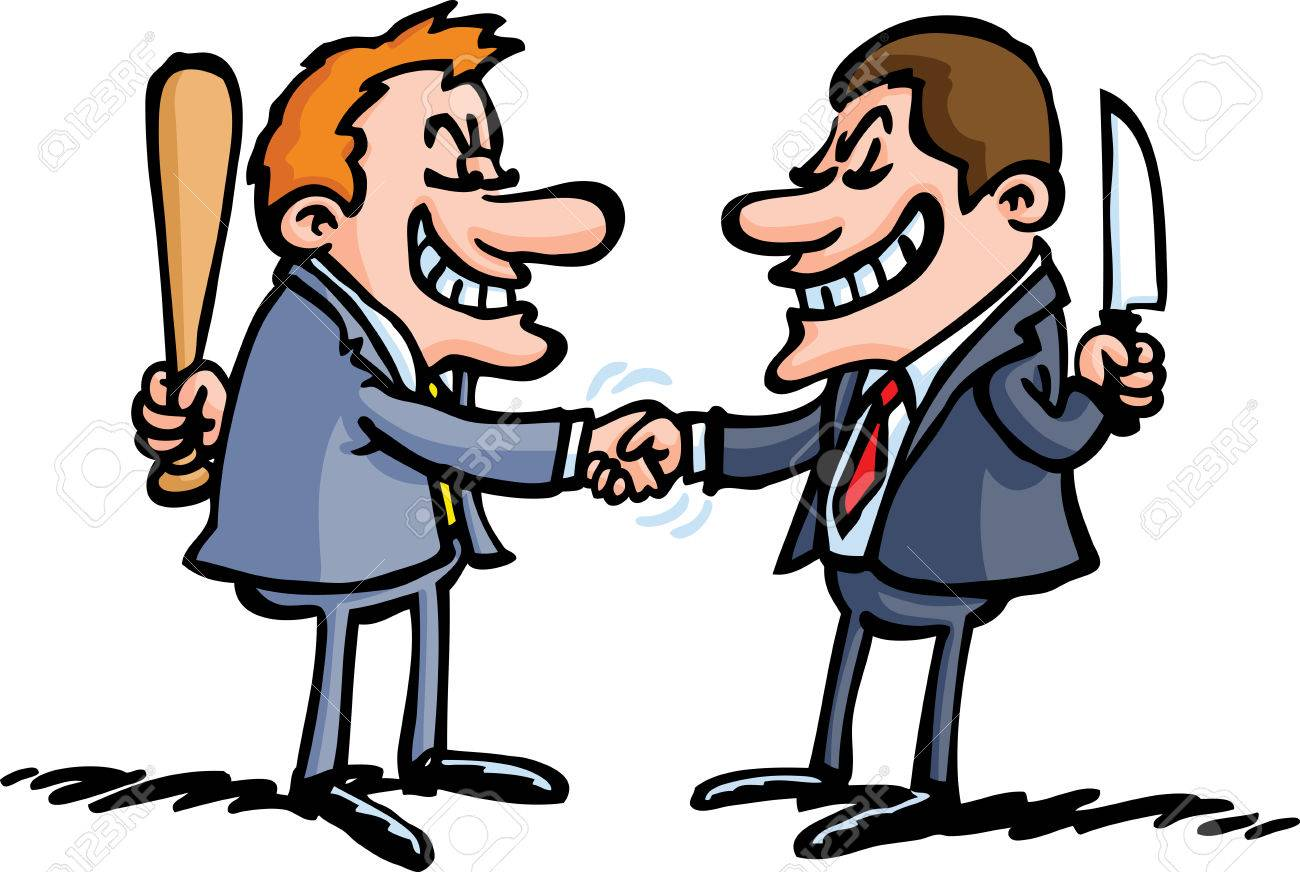 Image result for cartoon enemies shaking hands pics