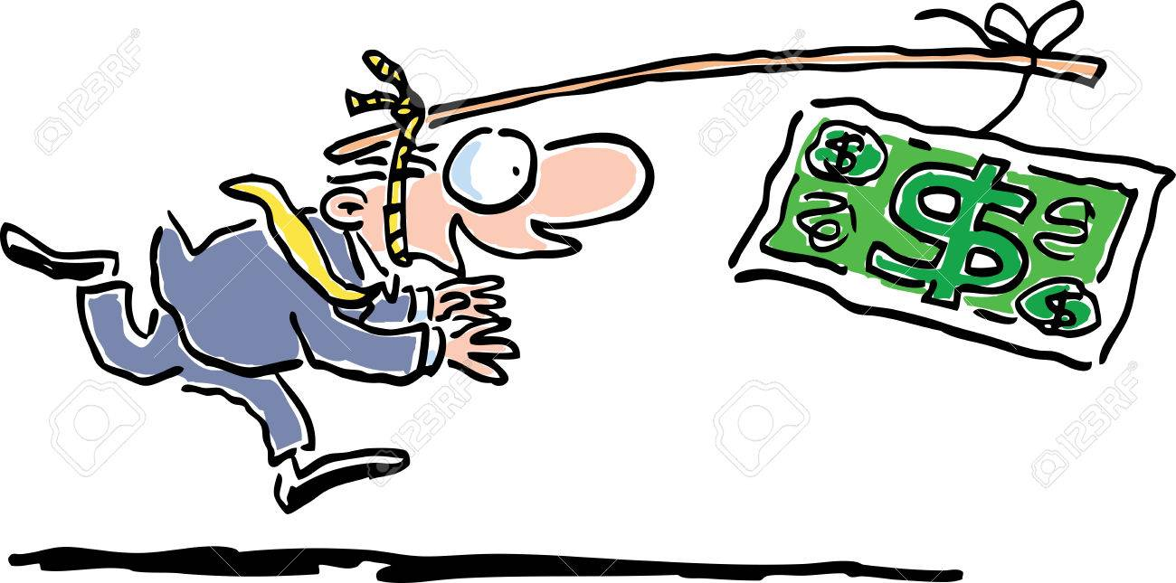 Chasing money Stock Vector - 9072919
