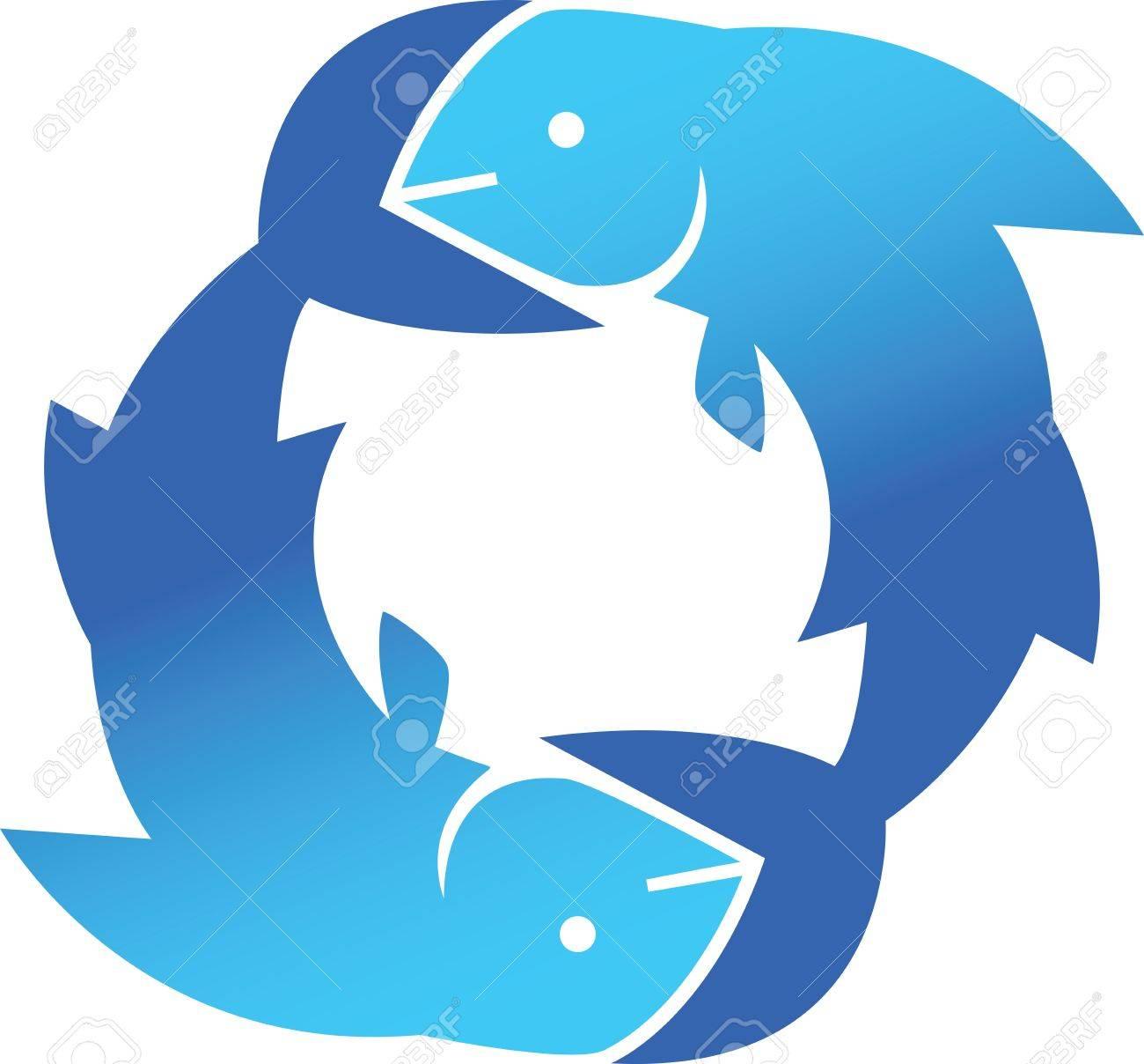 Fish Circle Stock Vector - 9197028