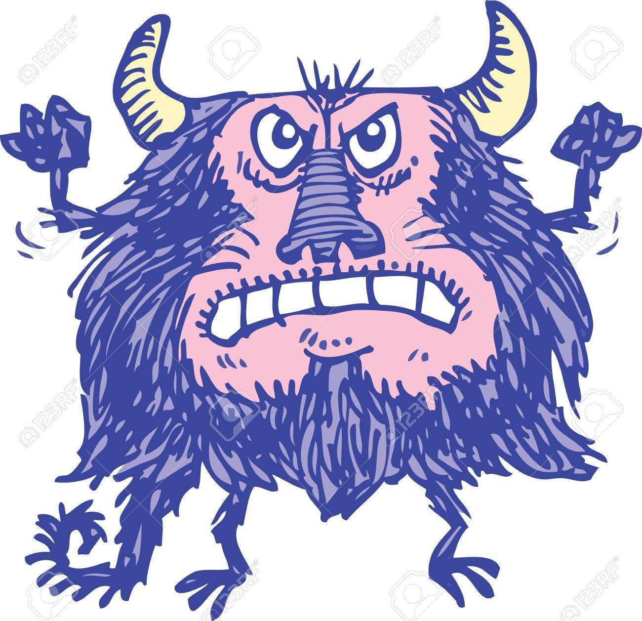 Purple Monster Stock Vector - 9197038