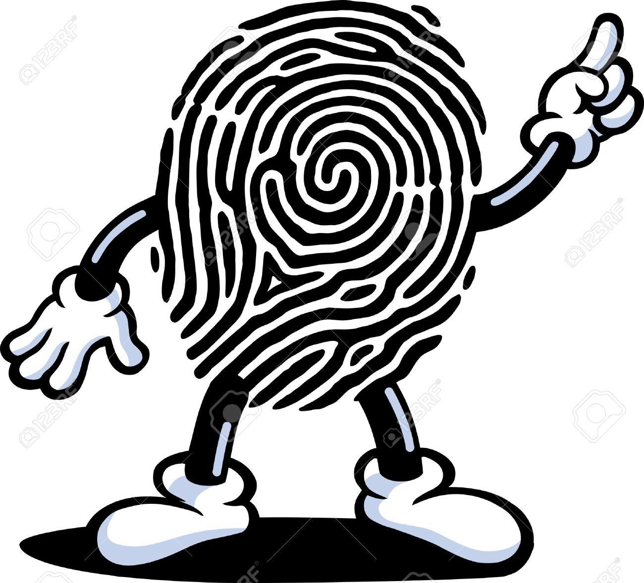 Fingerprint Guy Stock Vector - 9242125