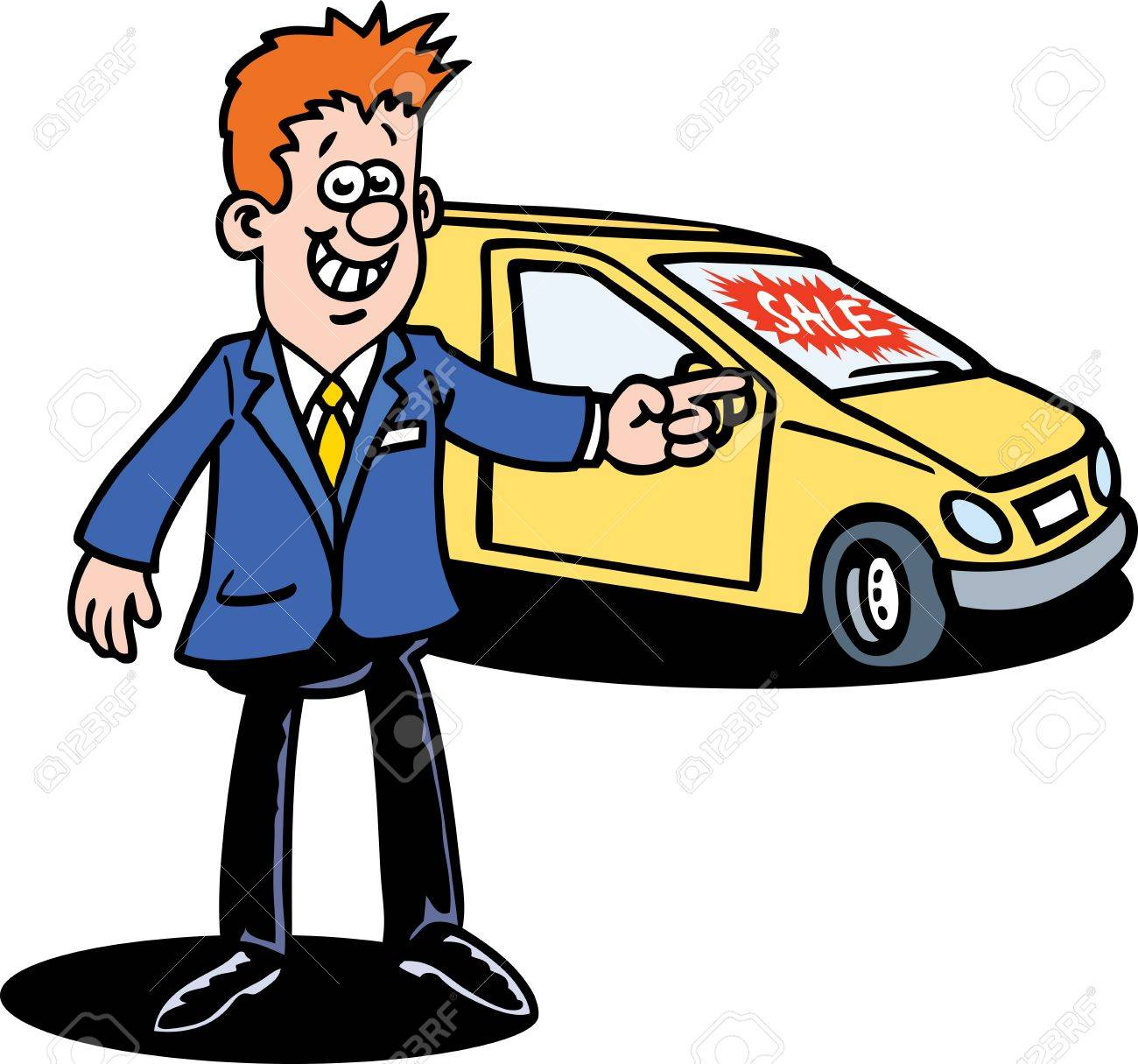 Business team cartoon characters cartoon vector cartoondealer com - Car Dealer Stock Vector 9349488 Car Dealer Cartoon