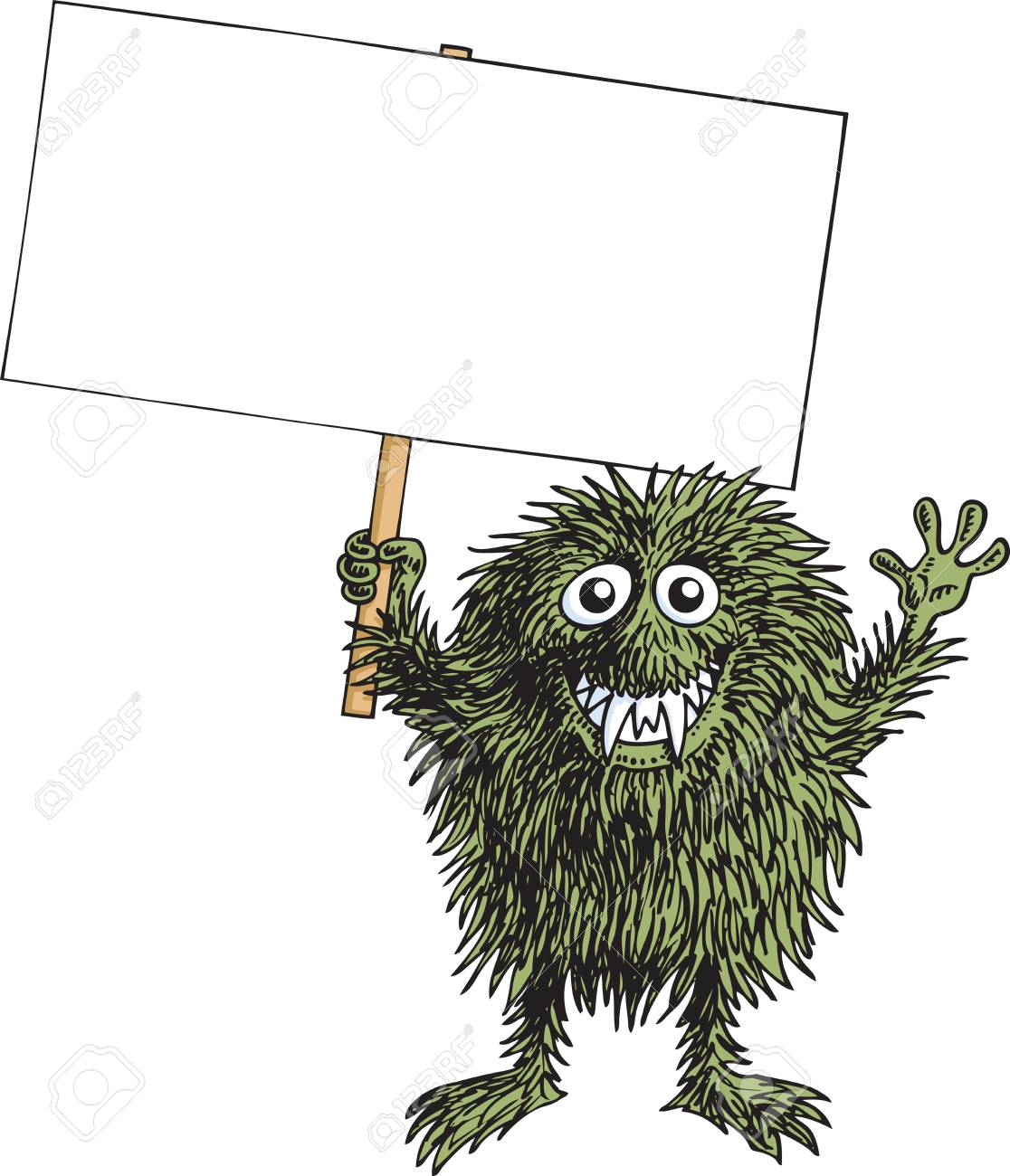 Protest Monster Stock Vector - 9646345