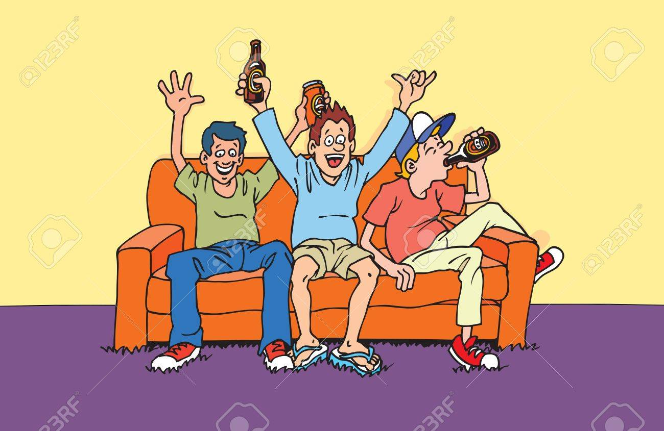 Couch Supporters Stock Vector - 10009603
