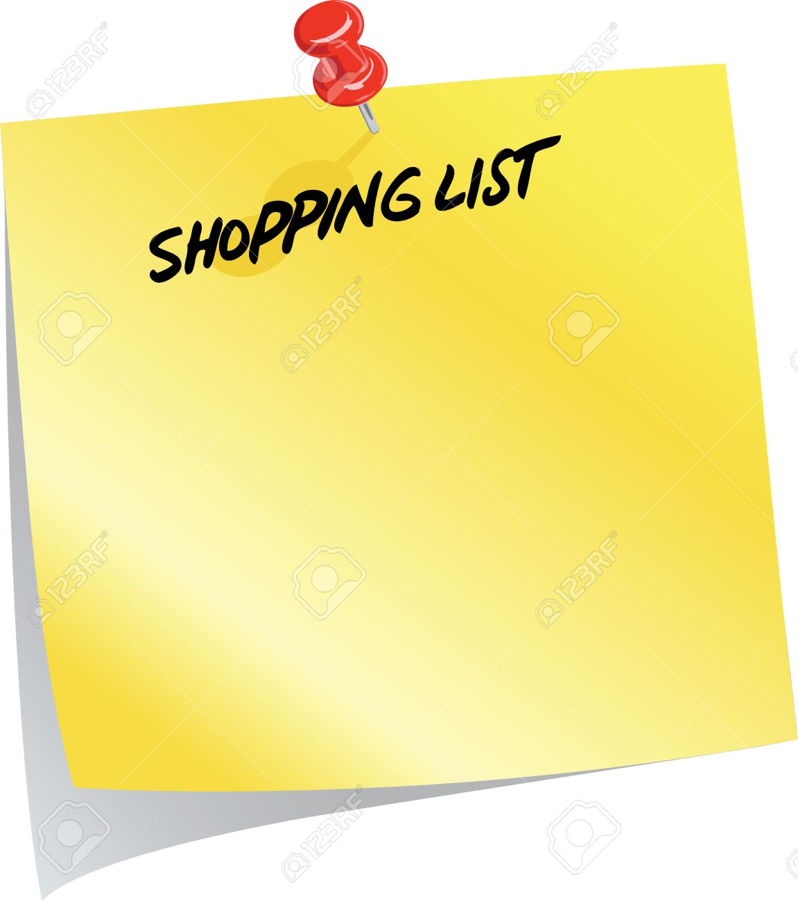 Shopping List | Shopping List Royalty Free Cliparts Vectors And Stock Illustration