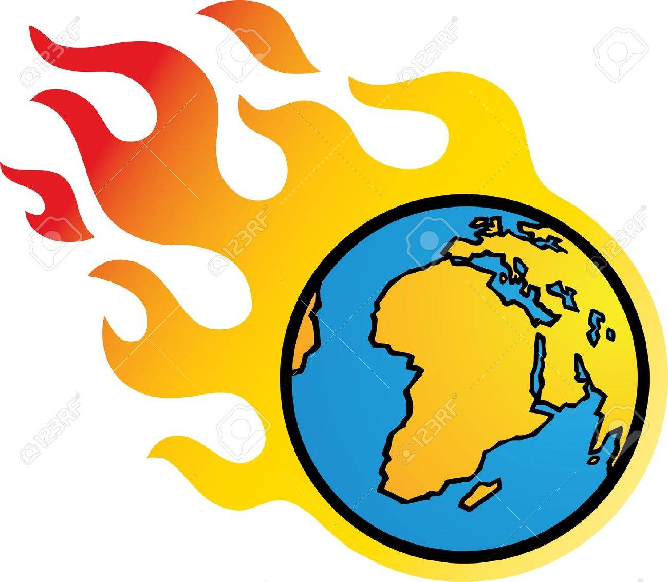 Flaming Earth Stock Vector - 10657296