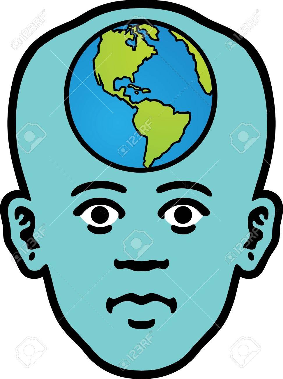 World Head Stock Vector - 12748589