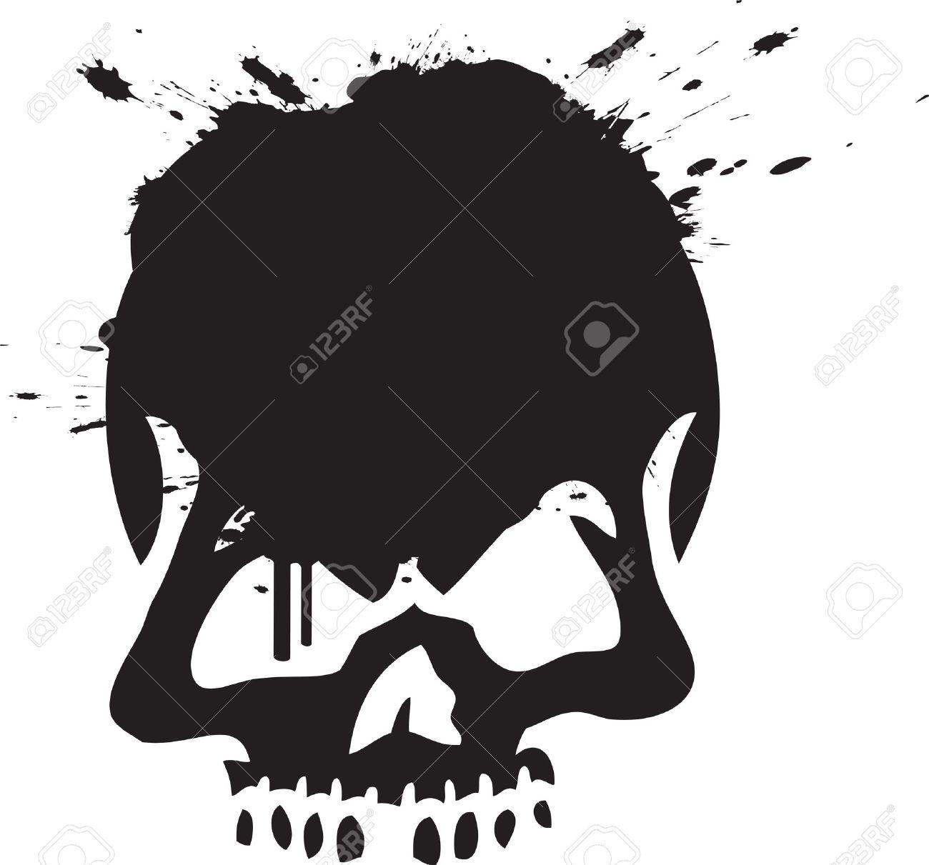 Skull graffiti stock vector 14080477