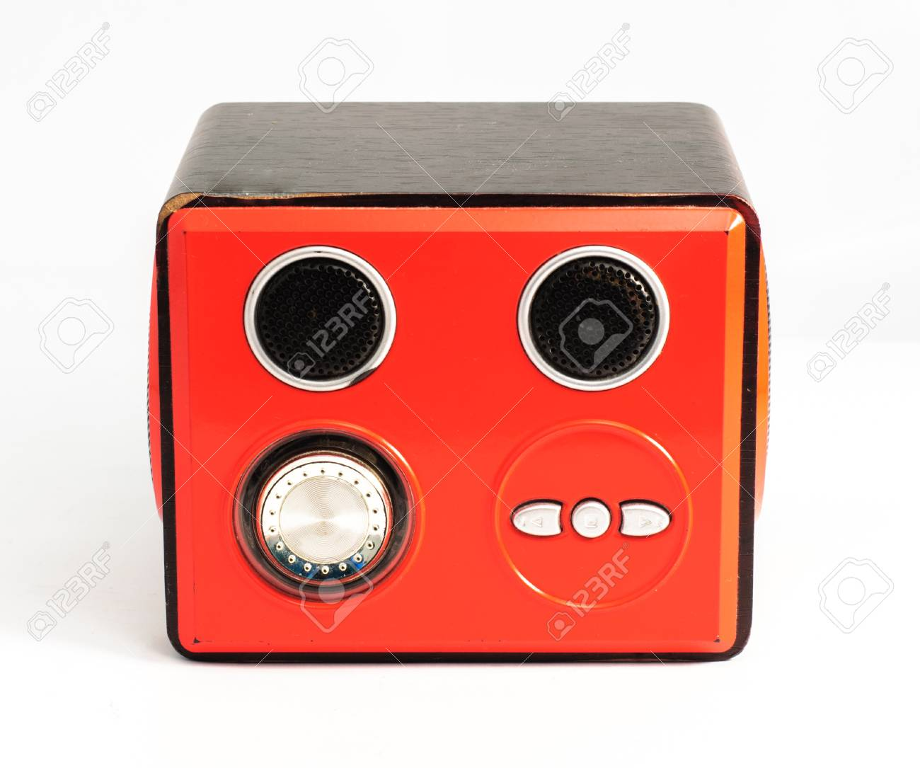 red box audio on the write background Stock Photo - 15052798