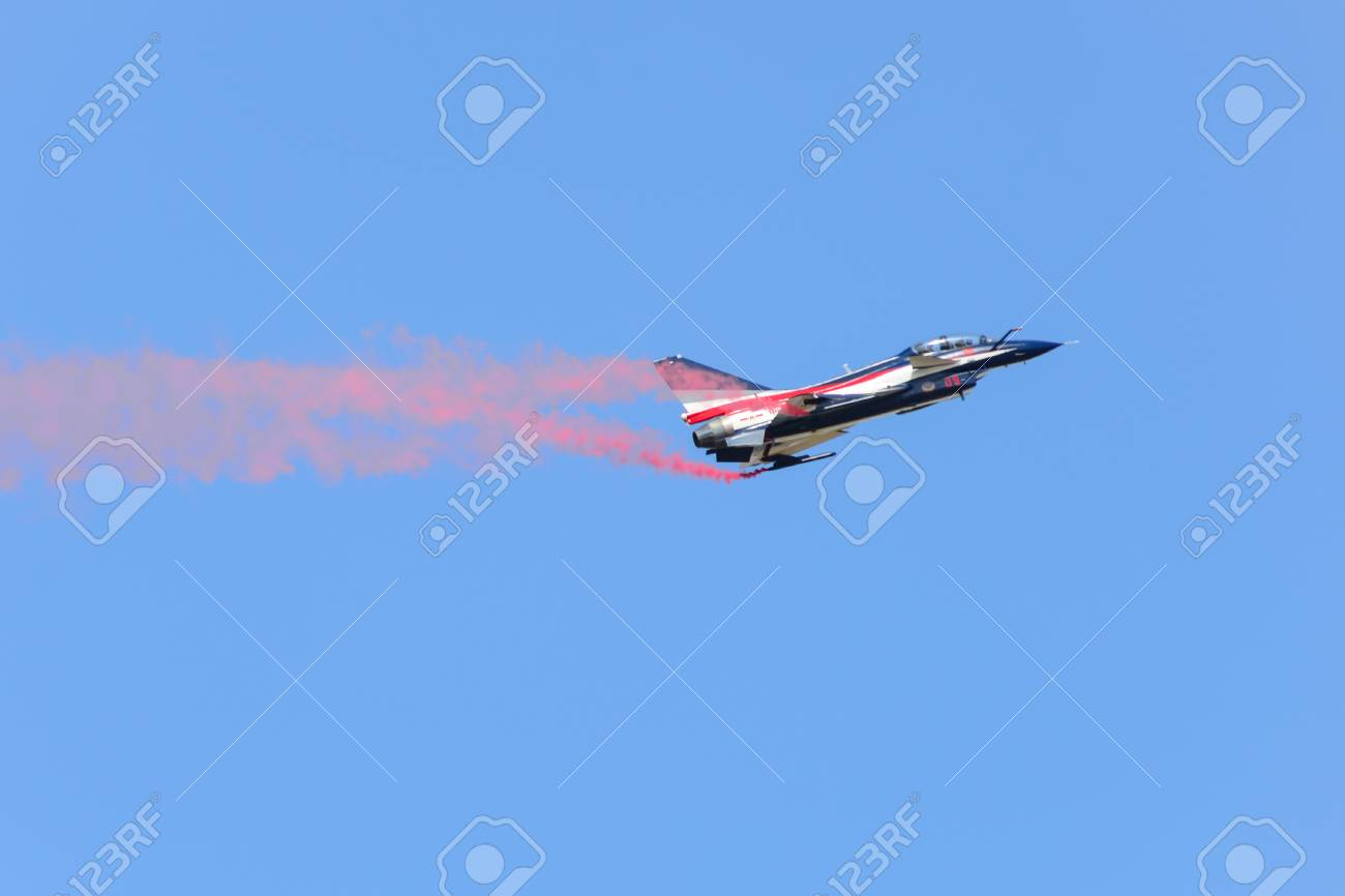 NAKHON RATCHASIMA 27 NOVEMBER :The display of aerobatics shared