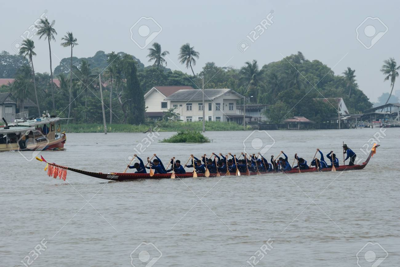 Longboat racing Traditional Culture ,Nonthaburi,Thailandd Stock Photo - 15317726