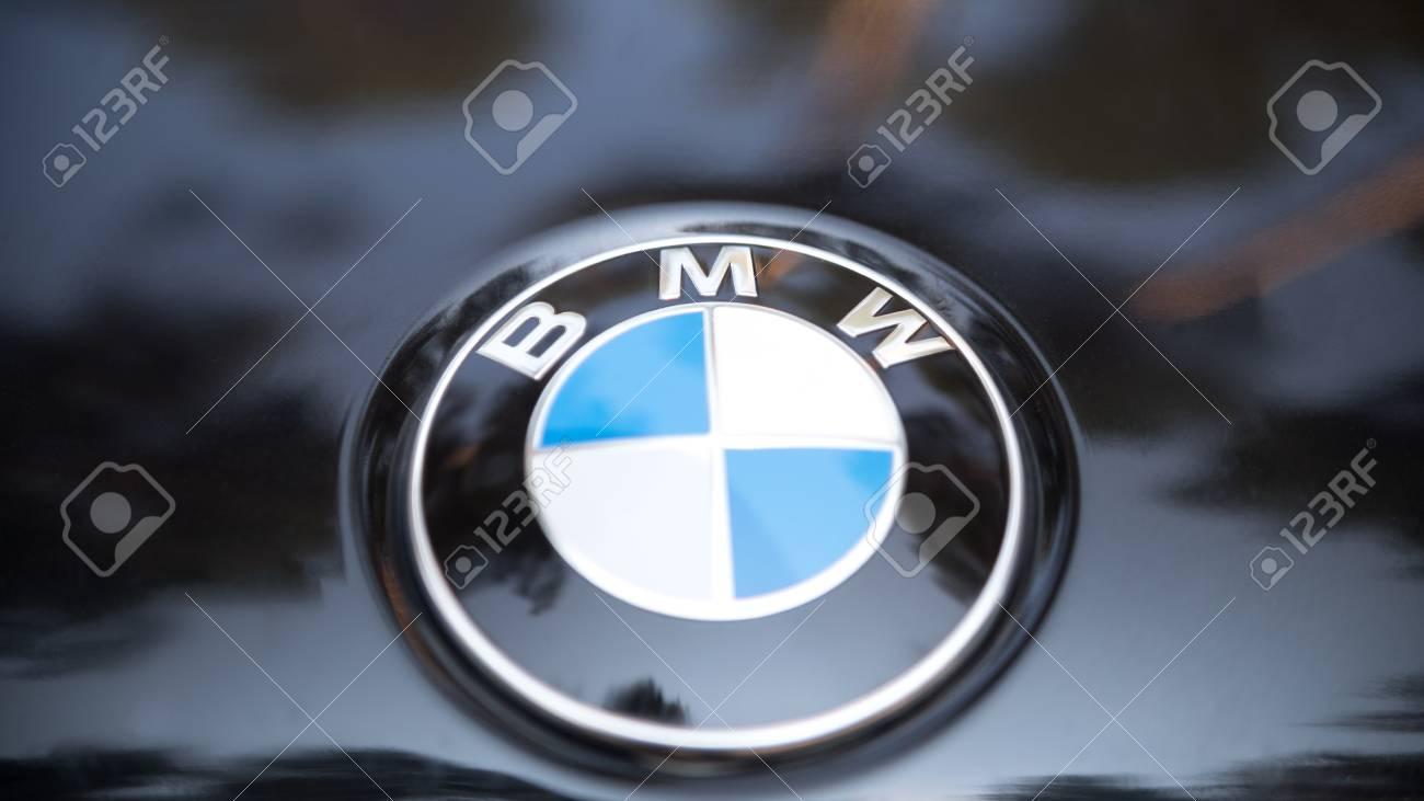 Kazan Russia July 2017 Sign Of A Bmw Logo On Black Car Popular