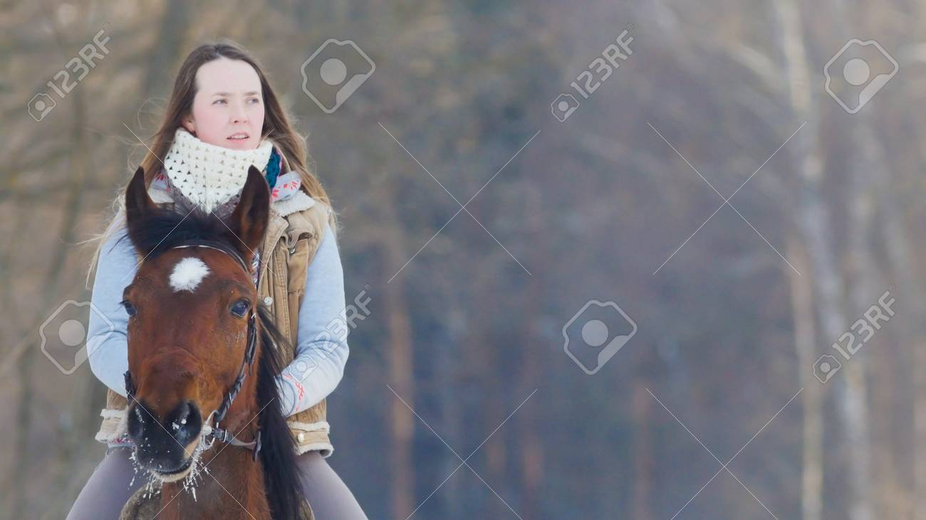 Longhaired Female Rider Wild And Fast Riding Black Horse Through Stock Photo Picture And Royalty Free Image Image 99868825
