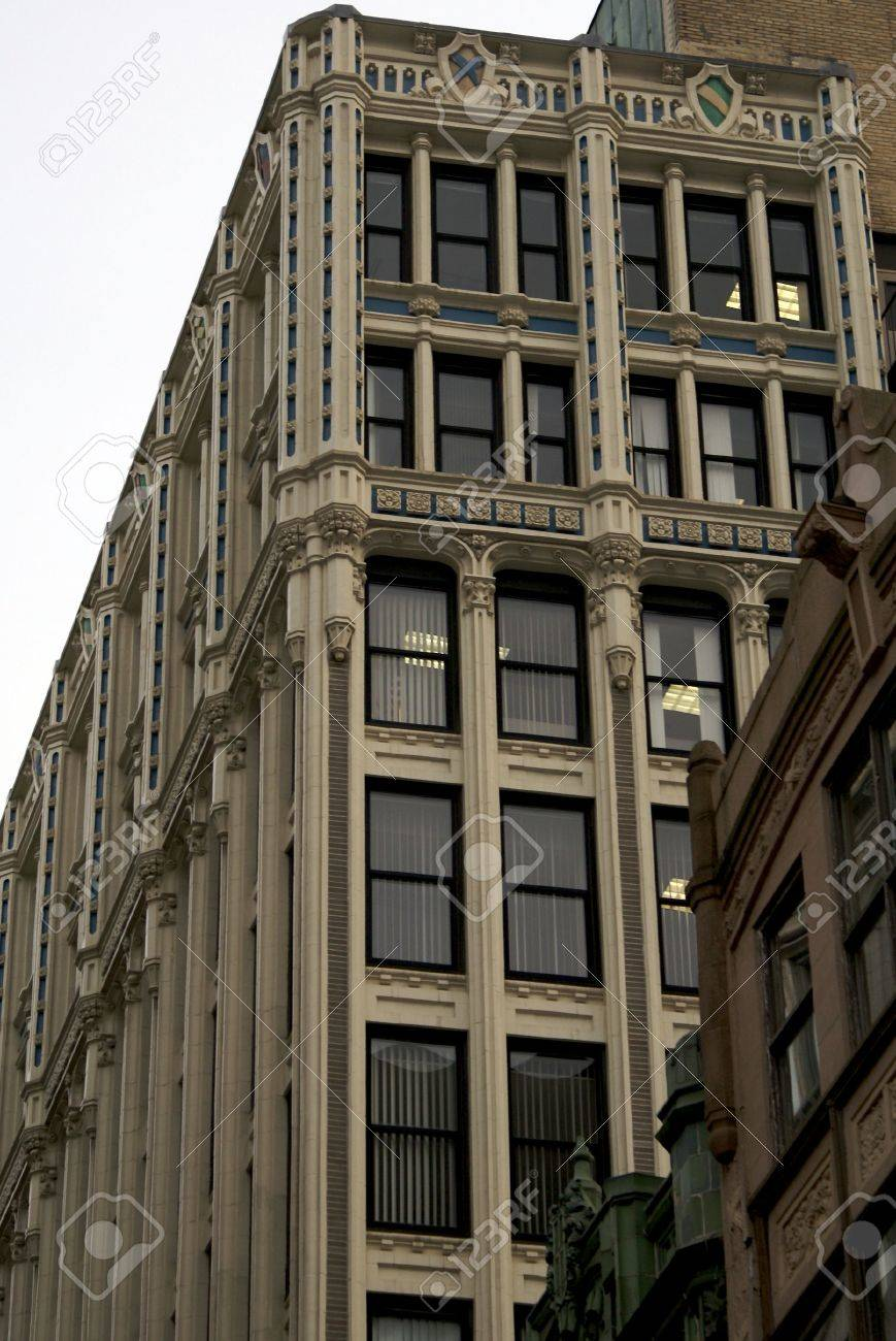 stock photo tall skinny fancy high rise office building very ornate either victorin or art deco boston art deco office building