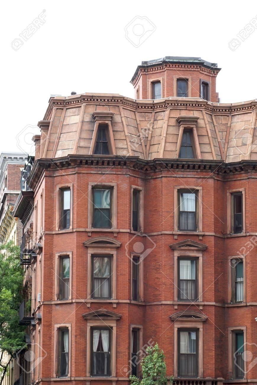 Stately Old Apartment Building In Downtown Boston Massachusetts