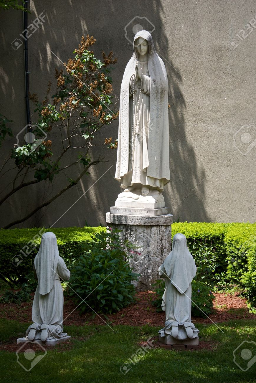 Public Statue Of The Virgin Mary Located At The Peace Garden Of St Leonard  In The