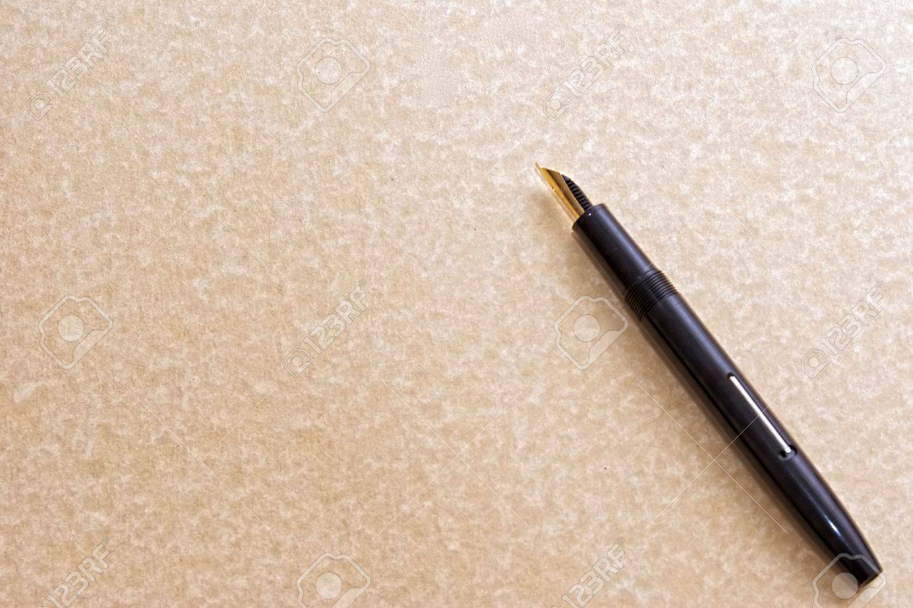 Can quill pens only be used to write on parchment paper?