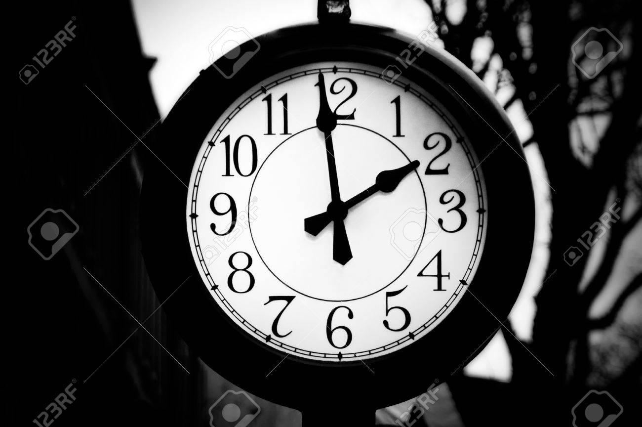 outdoor clock in quincy market in boston massachusetts Stock Photo - 4001584