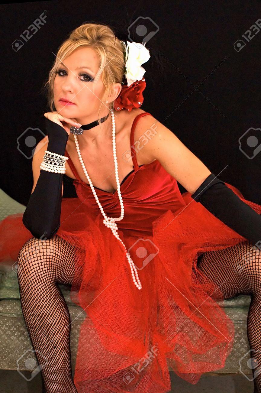 Blonde Spread Stockings Legs