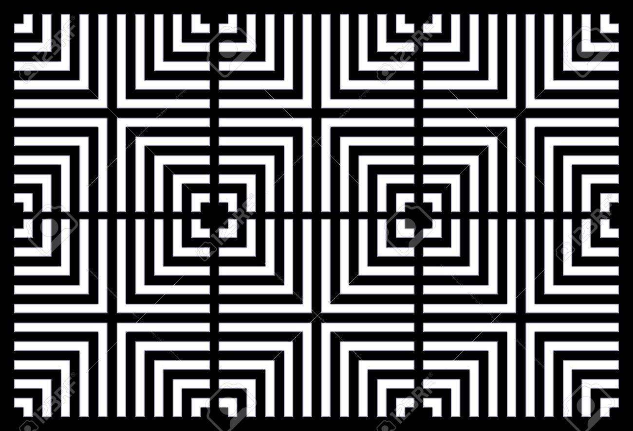 Illustration Of Repeating Square, Tiled And Spaced Creating Optical Illusion.  Stock Illustration   30850161