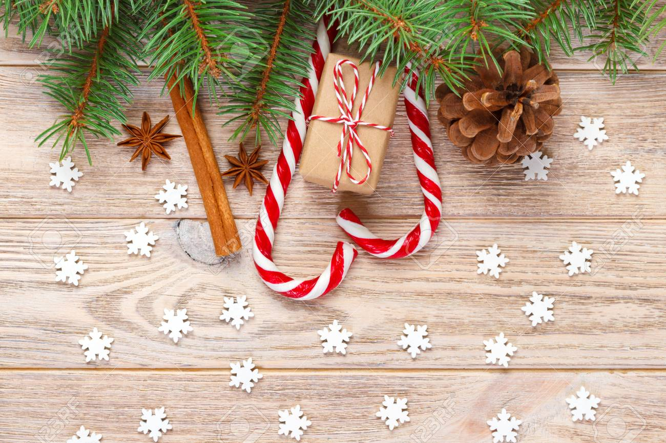 Christmas Background With Christmas Tree Branches Pine Cones Stock Photo Picture And Royalty Free Image Image 90925309