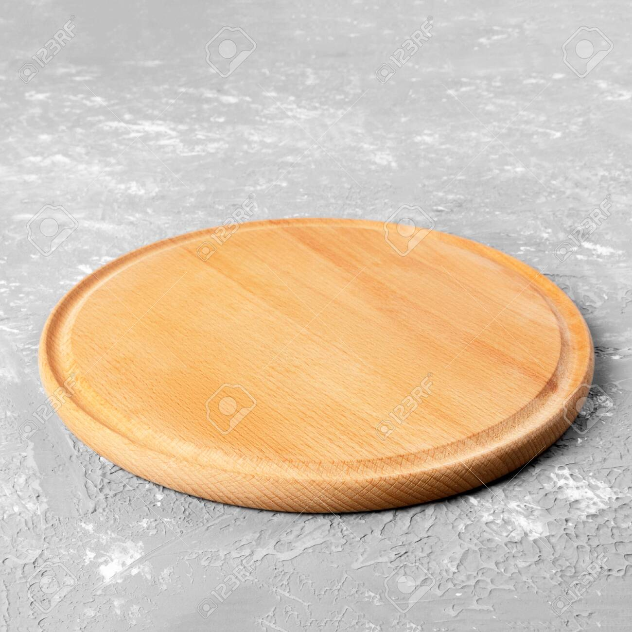 Empty Round Wooden Plate On Textured Table Wood Plate For Food Stock Photo Picture And Royalty Free Image Image 129351111