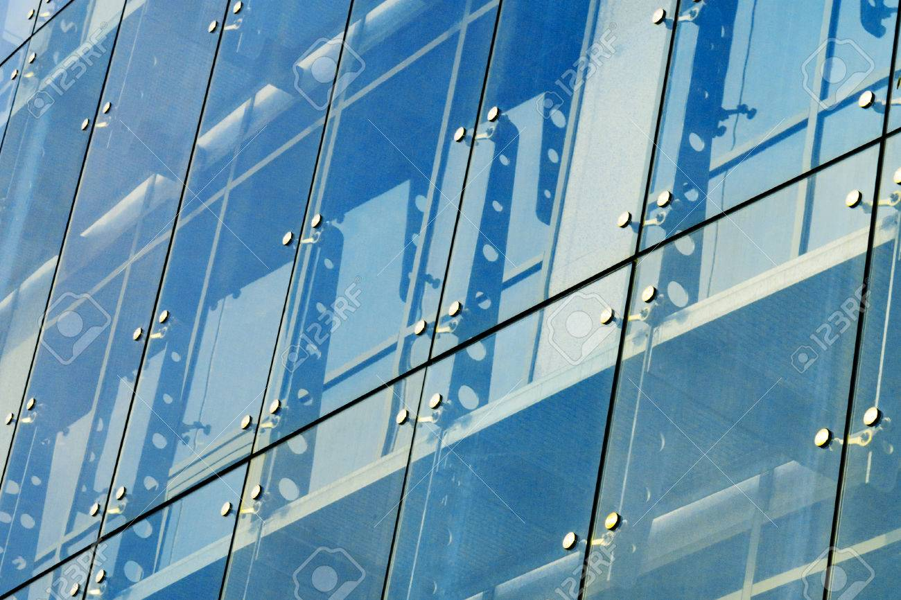 Architecture Abstract Background Glass Curtain Walls Fasteners Elements Of Spider System Facade