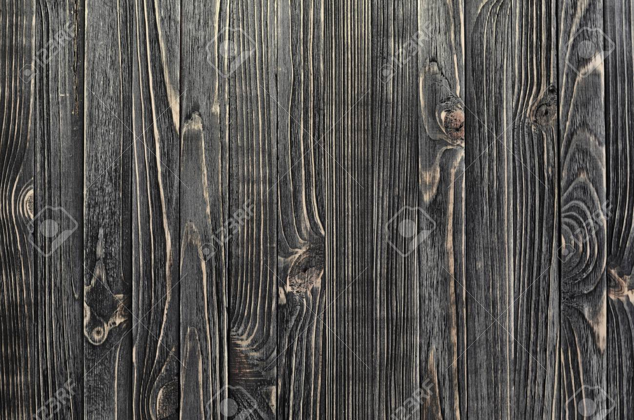 Dark Wood Background Panel Of Vertical Wooden Aged Boards Stock Photo