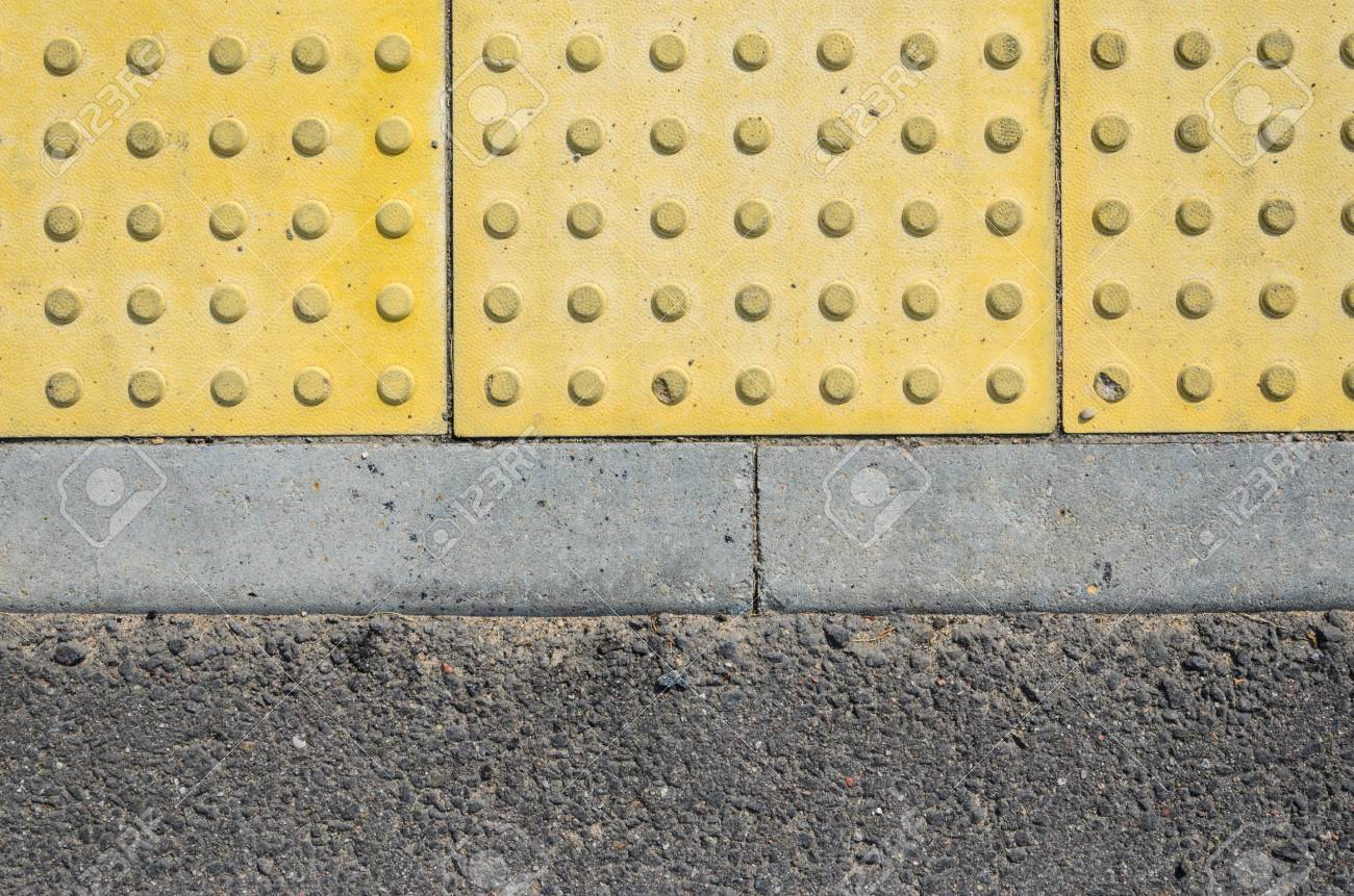 Adjoining pavement with a tactile tile for blind peoples and adjoining pavement with a tactile tile for blind peoples and an asphalt road joint of dailygadgetfo Image collections