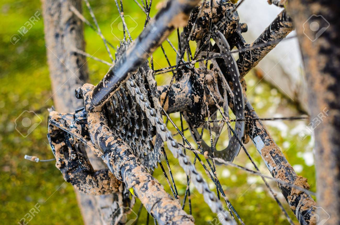 Mountain Bike Transmission In Mud Dirty Chain Drive Of Mountain Stock Photo Picture And Royalty Free Image Image 125288735