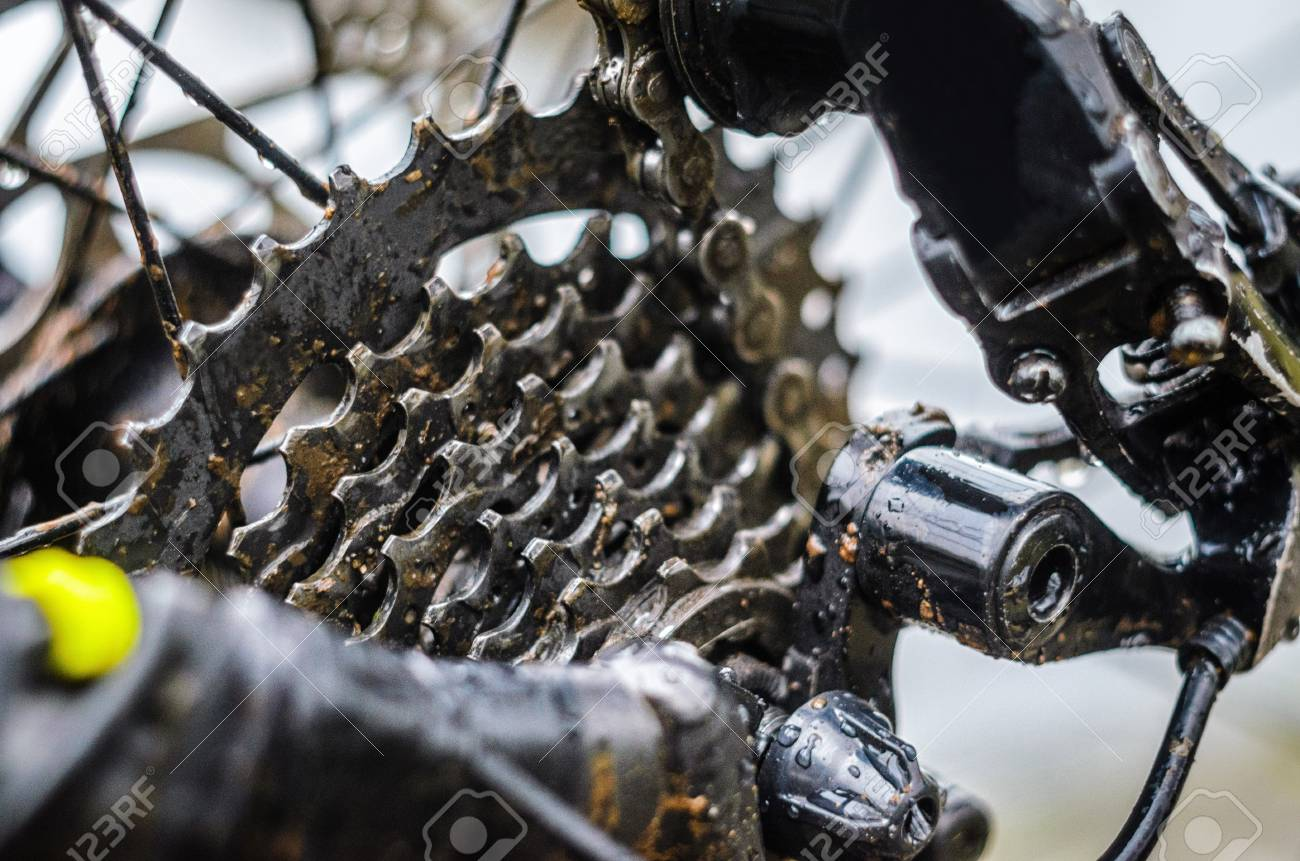 Mountain Bike Transmission In Mud Dirty Chain Drive Of Mountain Stock Photo Picture And Royalty Free Image Image 125288765