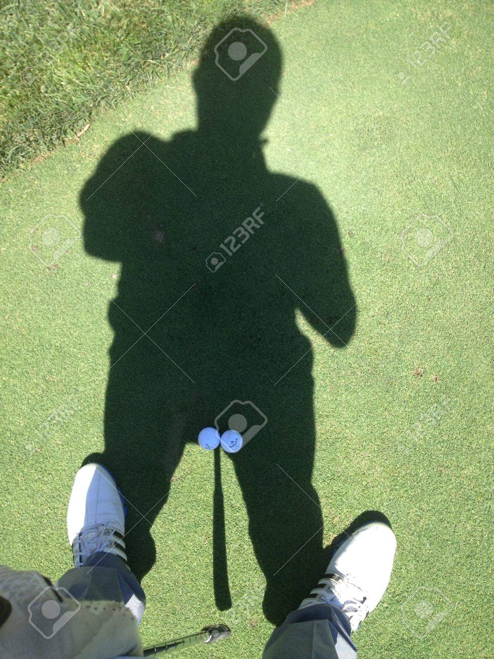 Hard Putt And Funny Golf Shadow Stock Photo Picture And Royalty Free Image Image 21975346