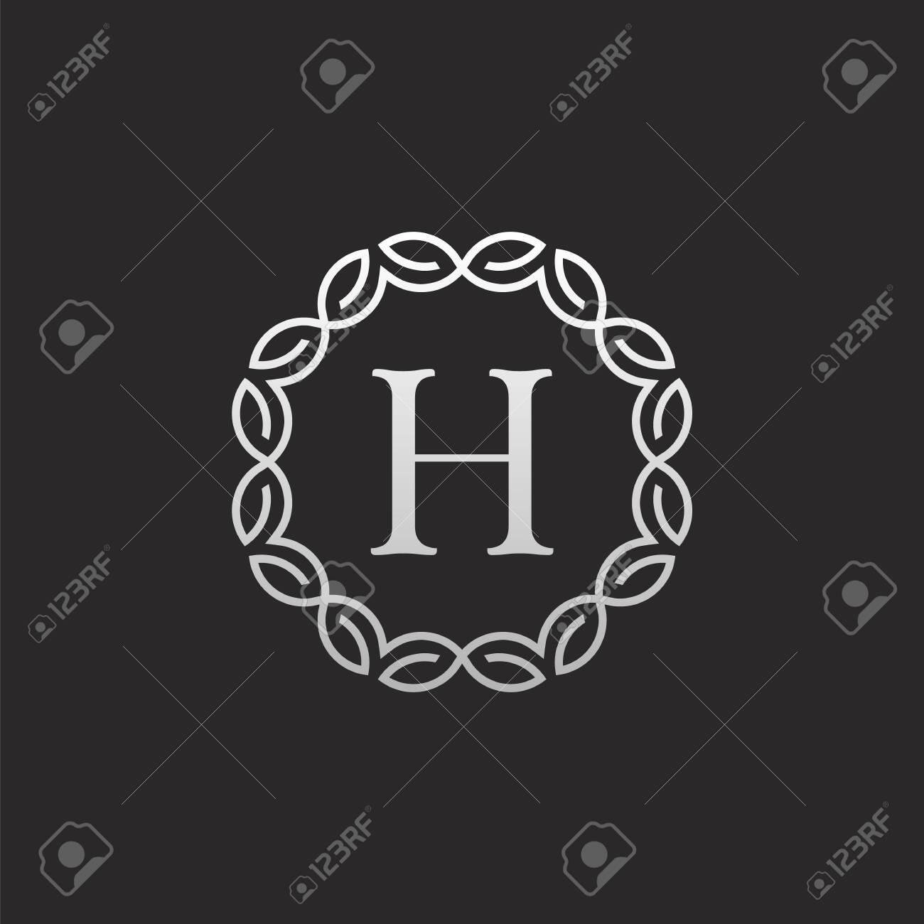 Luxury Letter H logo Design - 145066444