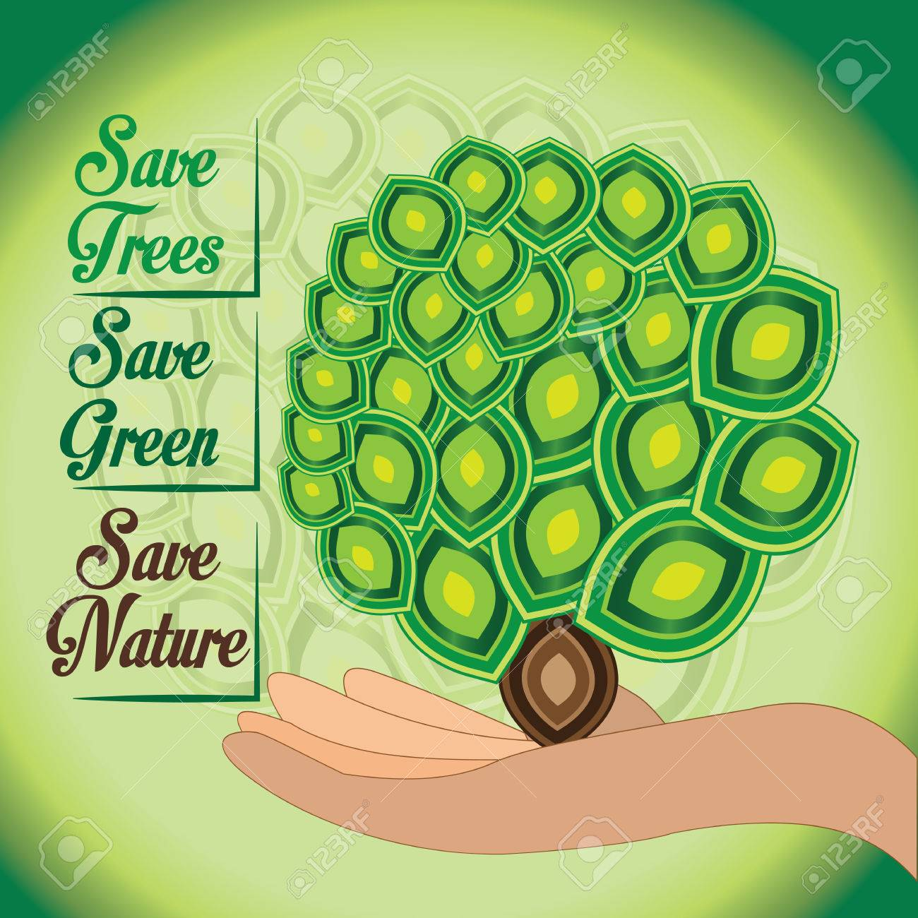 Save Our Nature Green World And Green Ecology Should Remain