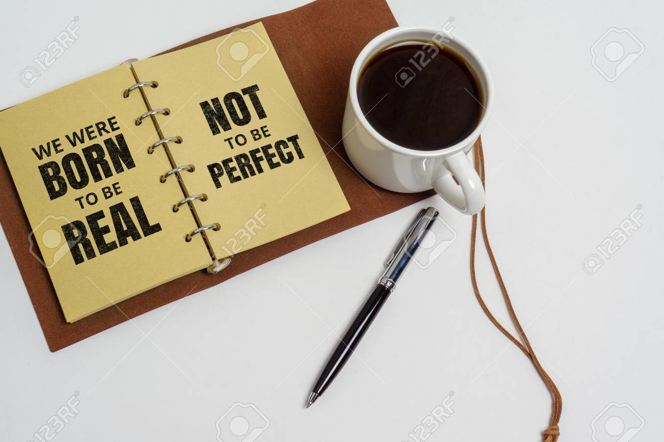 inspirational and motivation life quote notepad and coffee cup