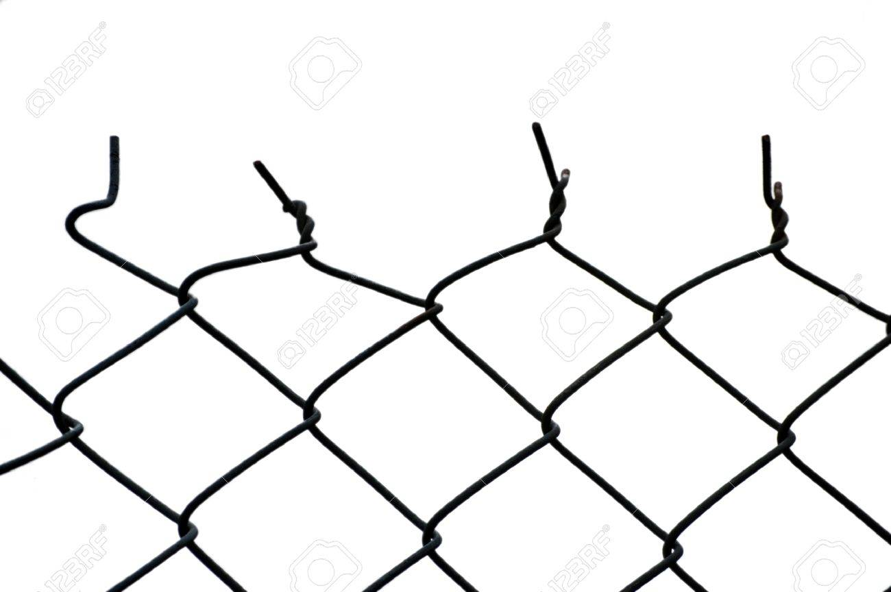 The Top Of A Cut Wire Fence. The Move From The Consistent Patterned ...