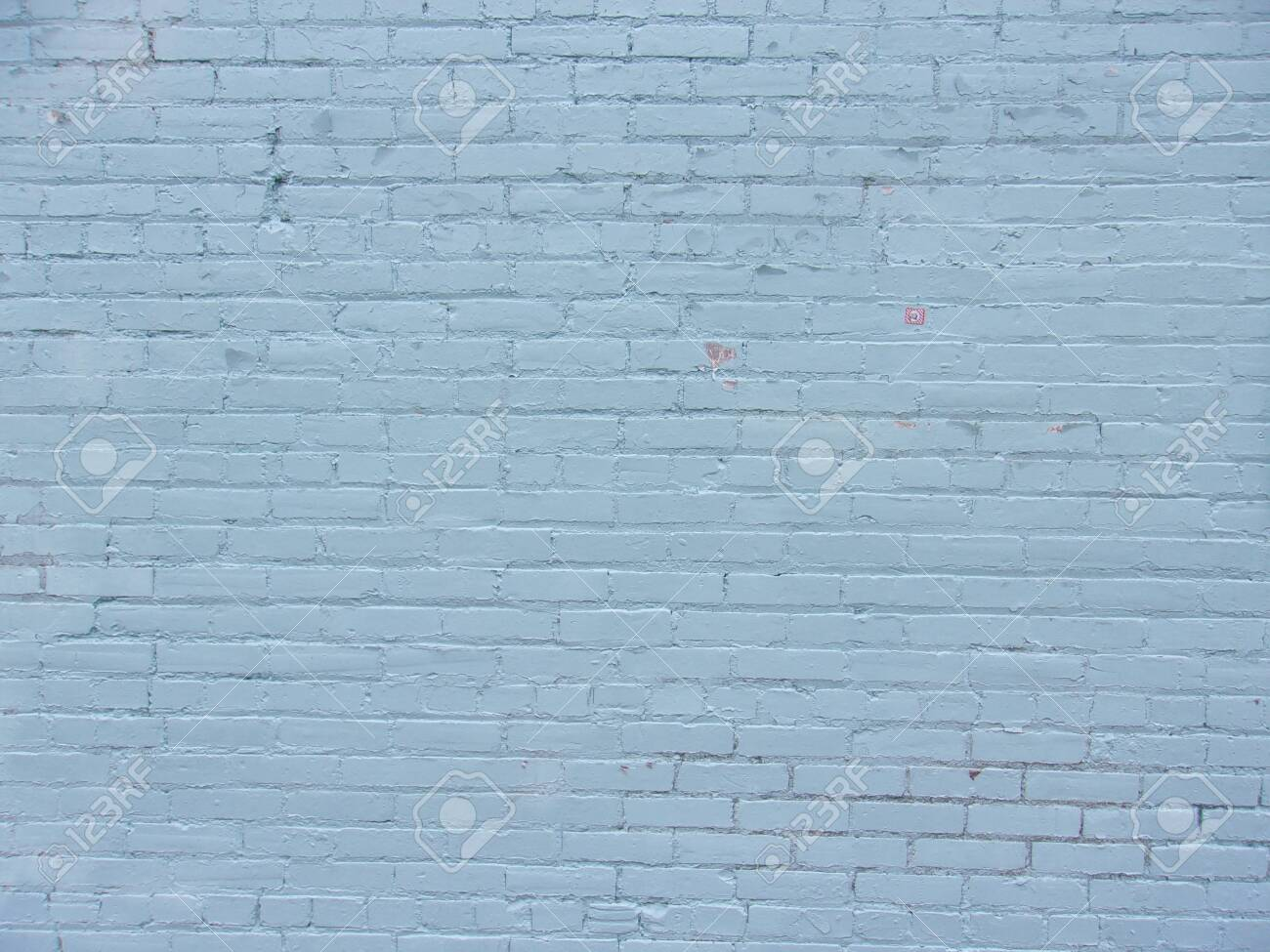 Blue brick wall on inner city building 3 - 139367381